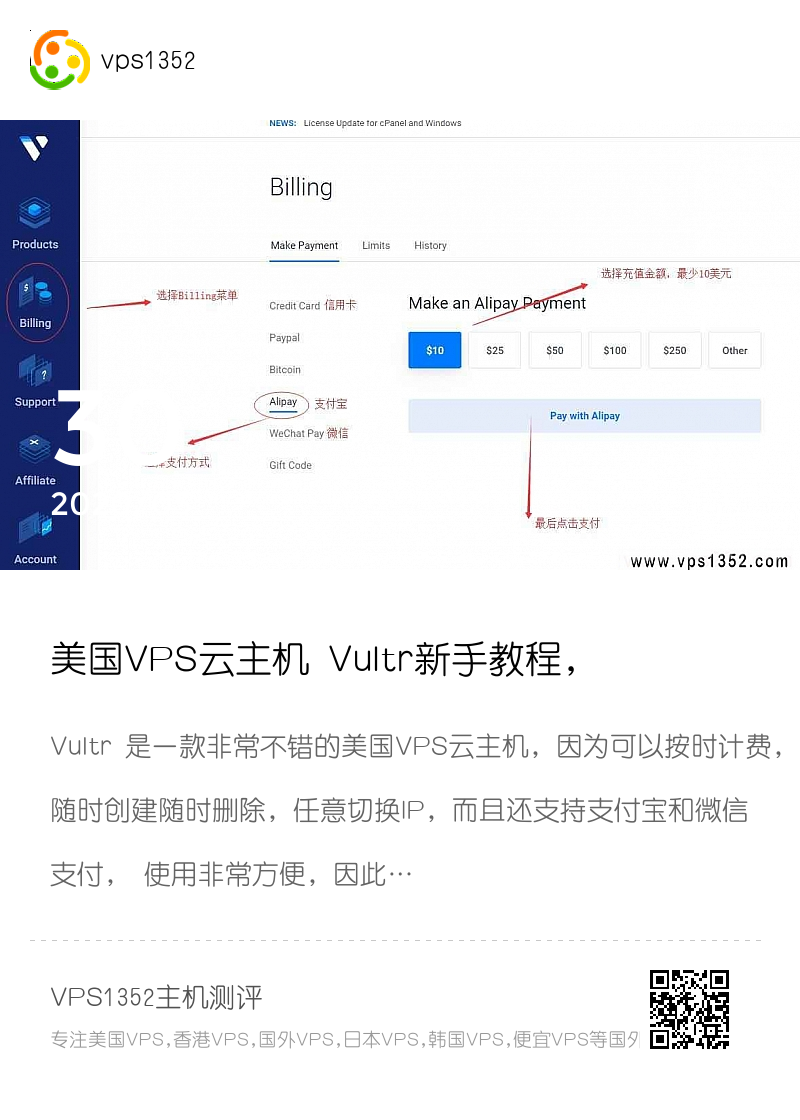 美国VPS云主机 Vultr新手教程,教你怎样使用Vultr分享封面
