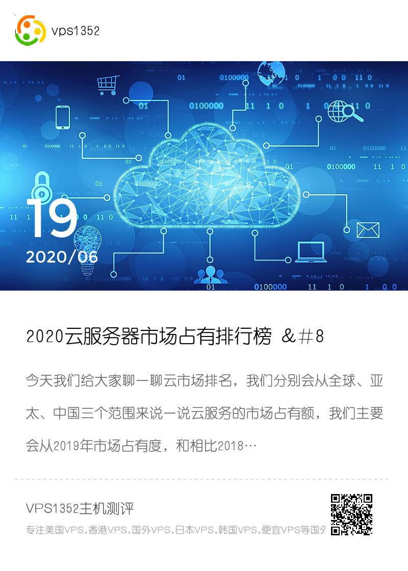 2020云服务器市场占有排行榜 – 亚马逊第一微软和阿里云分居二三分享封面